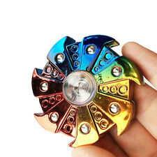 RAINBOW TURBINE 7 GEARS HAND SPINNER ADHD AUTISM FINGER GYRO SPIRAL TOY CAREFUL