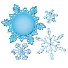 SPELLBINDERS DIES Shapeabilities 2012 SNOWFLAKE PENDANT Set of 4 Dies S5-117 R