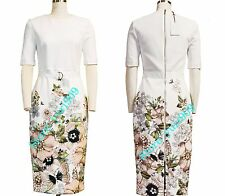 Ted Baker London IVORY LayLi Gem Garden Bodycon Dress Size 4 (US 10) $315