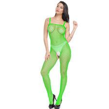 Ladies Lingerie Nightwear Women Open Crotch Fishnet Body Stocking Bodysuit