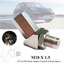 45°O2 Sensor Adapter System Catalytic Exhaust Spacer Bung Fix Check Engine Light