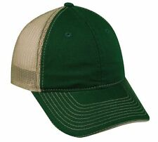 High Quality Low Profile Washed 6 panel Green Khaki Snap Back Trucker Mesh hat