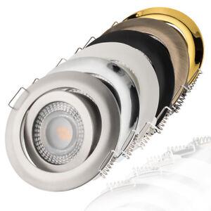 LED Einbaustrahler flach 3000K warmweiß 230V dimmbar Einbauleuchte Einbauspot