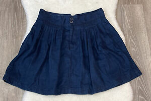 Levi Strauss Vintage Renewal High Waist Soft Denim Pleated Mini Skirt sz 27
