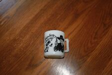 1950's Hazel Atlas Black Hopalong Cassidy Coffee Cup/Mug.HoppyMug.TV actors