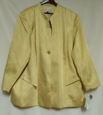 NWT Terramina Womens Gold Church Suit Jacket and Skirt Embellished Sz 32S