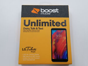 LG Tribute Royal X320AB Gray Boost 16GB Clean IMEI -BT7722 W