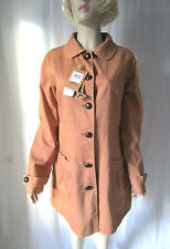 Button Cotton Knee Length Formal Coats & Jackets for Women