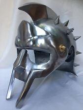 Gladiator Maximus Movie Helmet Ancient Armor with Leather Liner Larp