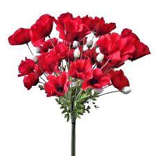 12 62 cm rojo fuego artificial flor de amapola tallos-Recuerdo