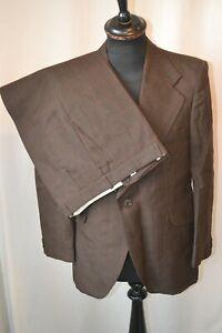 "Vintage 1970's Burton brown window check large collar 3 piece suit 40""  W 34"""