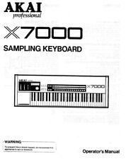 Akai x7000 Sampling Keyboard Owners Instruction Manual