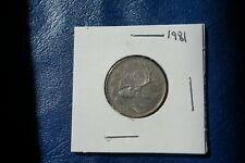 A-218 1981 Canada 25 Cents quarter Queen Elizabeth II