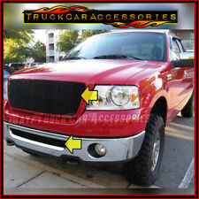 For FORD F150 2004 2005 Black Grilles 2PC Combo REPLACEMENT Upper w/out +Bumper