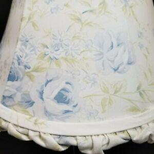 Simply Shabby Chic Rachel Ashwell Blue British Rose Fabric Lampshade