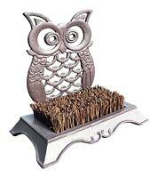 Vintage Decor ® Cast Iron Owl Boot Brush Mud Scraper Garden