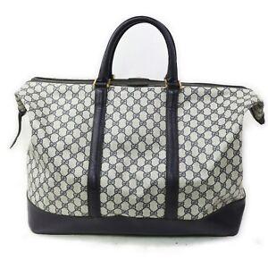 Gucci Travel Bag  Navy Blue PVC 1604596
