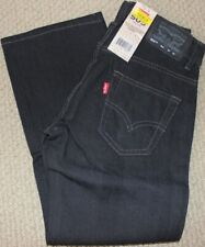Levi's 505 Boy's 8 Jeans Pants Straight Leg 24 X 22 NWT Black Adjust Waist