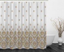 Vintage Romantic Country Victorian Style Floral Art Print Fabric Shower Curtain