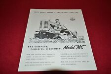 John Deere MC Crawler Tractor Dealer's Brochure AMIL4 Reproduction