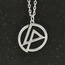 Excellent nu metal Linkin Park Bank Symbol Pendant Necklace long Chain Jewelry