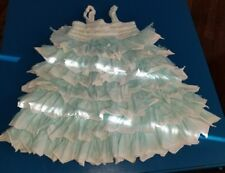 Isobella & Chloe Girls white & baby Blue tulle  Easter party formal Dress size 5