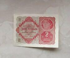 2 Kronen Banknote, 1922, guter Zustand