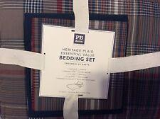 Pottery Barn Teen 5 Piece Heritage Plaid Bedding Set Twin Sheet Set Comforter