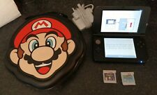 NINTENDO 3DS XL CONSOLE OFFICIAL CHARGER MARIO CASE & GAMES BUNDLE HENRY TURTLES