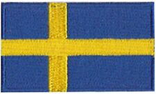 Sweden Flag Small Iron On / Sew On Patch Badge 6 x 3.5cm Sverige Swedish