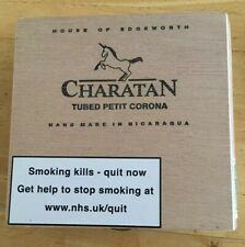 Charatan Petit Corona 10's Empty Wooden Cigar Box