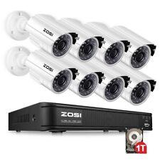 ZOSI 8CH 1080N DVR 1500TVL 720P Outdoor Bullet CCTV Security Camera System 1TB