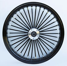 "Black Ultima 38 King Spoke 21"" x 3.5"" Front Dual Disc Wheel for Harley"