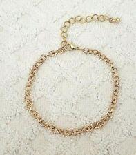 Women Anklet Foot Jewelry Chain 8 Inch Rolo Chain Ankle Bracelet