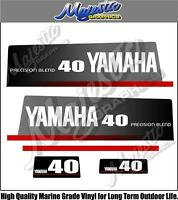 YAMAHA - 40hp PRECISION BLEND - DECALS - OUTBOARD DECALS
