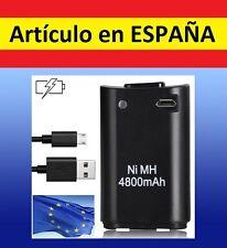1x Batería negra MANDO XBOX 360 4800mAh cargador por USB Recargable battery PACK