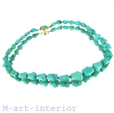 altes Türkis Collier 30er Art Déco Halskette turquoise necklace China 1930´s