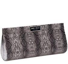 NEW JIMMY CHOO PERFUME Black Snakeskin Limited Edition Clutch Bag Purse