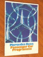 1971 Mercedes-Benz Passenger Car range original 36 page brochure