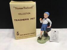 1979 Norman Rockwell Cllection Teachers Pet Porcelain Figurine Nib