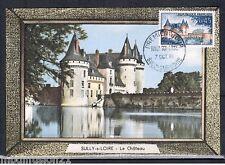 1961-FDC CARTE 1°JOUR-CHATEAU FORT DE SULLY-SUR-LOIRE - OBL.SULLY-TIMBRE Yt.1313