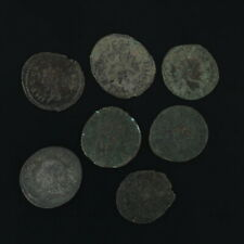 Mixed Ancient Coins Figural Roman Artifacts Lot of 7