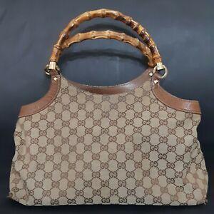GUCCI Vintage  Bamboo Handle Bag 137395 002132