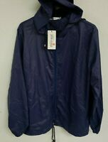 Meaneor Womens Rainwear Active Outdoor Hooded Cycling Jacket, Navy Blue, X-Large