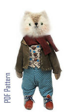 """Printed Wolf Pattern 8"""" Artist Wolfy/ sewing and clothes, basket instructions"""