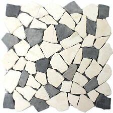 Mosaikfliesen Marmor Bruch Naturstein Biancone Java