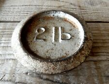 Vintage 2lb Cast Iron Weight for Kitchen Weighing Scale - Paper Weight #A