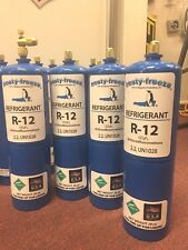 R12, Refrigerant 12, Virgin Pure R-12, (4) 28 oz. Cans On/Off Valve, 7 lbs.