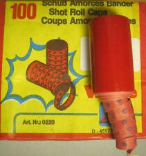 Schuß Wicke Zündplättchen 10 x 100er Streifen Caps Schuss 100 Schuß Rollen