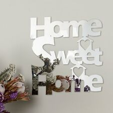 Home Sweet Home Decorative Self-Adhesive Mirror Wall Decoration FREE UK P&P